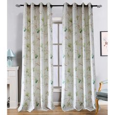 Anady Top Green Leaf Country Curtains Drapes 2 Panels