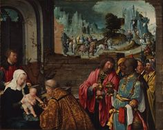 LUCAS VAN LEYDEN, c. 1494 - 1533: Adoration of the Magi (detail). Oil on panel, 27'9 x 34'5.