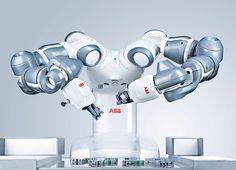 ABB's Collaborative Robot -YuMi - Industrial Robots from ABB Robotics Robot Assistant, Abb Robotics, Medical Robots, Fourth Industrial Revolution, Robotic Automation, Industrial Robots, 3d Printing Industry, American Manufacturing, Smart Robot