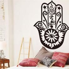Dress up your blank walls with Indian mandala Buddha yoga Hamsa hand vinyl wall stickers. Very easy to install and remove! Available in 4 different colors. Shop now! #Mandala #Buddha #Yoga #WallStickers