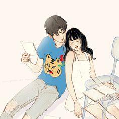 586번째 이미지 Manga Couple, Couple Art, Anime Cupples, Anime Art, Gifs, Cute Cartoon Girl, Cartoon People, Couple Illustration, Korean Art