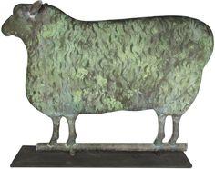 Full Body Sheep Weathervane, zinc. Very good original condition.
