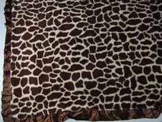Pickles Journey Baby Brown Tan Giraffe Lovey Baby Blanket Security  #PicklesJourney