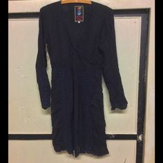 Johnny Was Wrap Style Dress Semi Sheer Rayon S Eyelet lace on bottom, sleeves, down front...nice to just throw over leggings or skinny jeans, and easy to care for. I just wore it once. Johnny Was Dresses