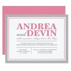 Wedding Reception Invitations Wording After Destination Wedding
