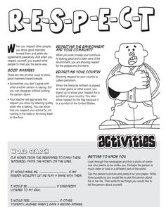 Stupendous image regarding free printable character education worksheets middle school