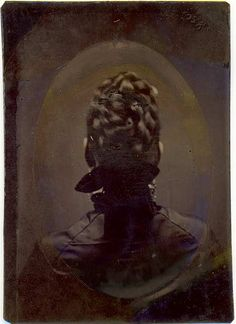 Tintype of the Back of a Woman's Head