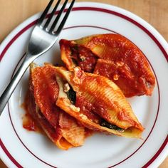Healthy Casserole Recipe:  Lighter Stuffed Pasta Shells