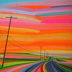 Neon Sunsets and Technicolor Landscapes Painted by Grant Haffnerby Christopher Jobson on September 8, 2015  haffner-1