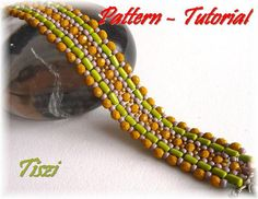 Pattern tutorial of RullaWay bracelet  PDF instructions by Tiszi, $9.00