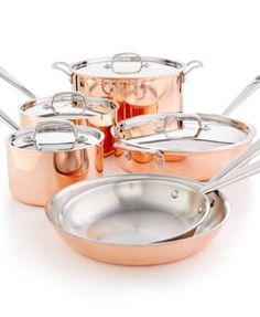 Martha Stewart Collection Tri-Ply Copper 10-Pc. Cookware Set, Only at Macy's | macys.com