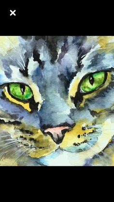 #CatWatercolor