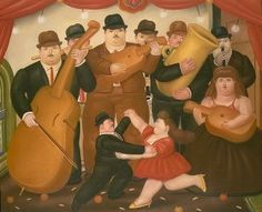 Fernando Botero, Dancing in Colombia, 1980, Fernando Botero Lesson, Art History for Kids, Contemporary Art for Kids