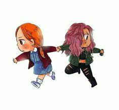 Toni Topaz and Cheryl Blossom Art of @annasya on Twitter #Riverdale #Choni