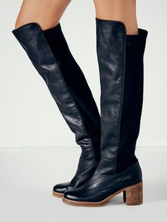 108.60$  Watch now - Choudory 2017 Women Leather Thigh High Boots Knee High Botas Mujer Mid Heels Winter Botte Femme Plus Size Cowboy Shoes Woman  #SHOPPING