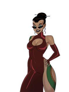 Comic Book Characters, Comic Character, Female Characters, Girl Cartoon, Cartoon Art, Dc Animated Series, Batman Redesign, Dc Comics Girls, Arte Ninja