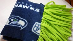 Seattle Seahawks Fleece Scarf, Show your support for your favorite team, Go Hawks on Etsy, $12.00