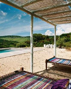 Indian day beds and spectacular views