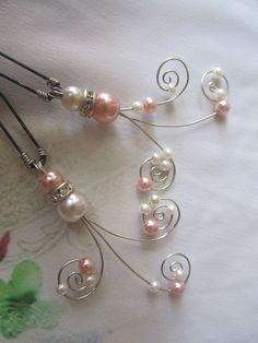 pearl hair pin  Bridal hair comb Wedding hair by xunantonich, $25.00