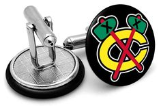 chicago blackhawks cufflinks frenchcuffed - Google Search Anaheim Ducks, Chicago Blackhawks, Nhl, Cufflinks, Google Search, Accessories, Wedding Cufflinks, Jewelry Accessories