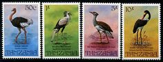 Tanzania Birds Stamps