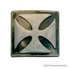 Watto Iron Cross Buckle - Rocker & tattoo inspired handmade metal accessories by metal artist Jon (WATTO) Watson. Handcrafted metal wear made in the U.S.A. no two pieces are alike.