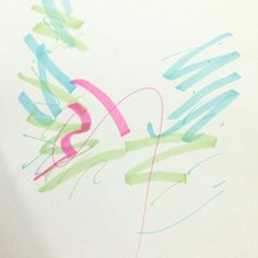 나의 칵테일 만드는 제스츄어 _마카 [추상적/즉흥적/아날로그/면적구성+선적구성]