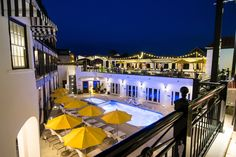Experience uninterrupted views of the Emerald Coast skyline at the Havana Beach Rooftop Lounge, the exclusive rooftop lounge at The Pearl Hotel. Havana Beach, Santorini Travel, Rooftop Lounge, White Building, Rosemary Beach, Gulf Of Mexico, Beach Town, Wedding Events, Weddings