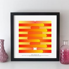geometric music wall art / favourite album print - custom abstract design based on the tracks of any album. This is Parallel Lines by Blondie. Unique gift idea for a music lover. #elevencorners #giftideas #musicposter #geometric #abstractart