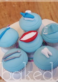 Dentist Themed Cupcakes                                                                                                                                                                                 More