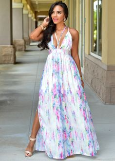 Chic Couture Online - Carrie Soft Pink Water-Color Maxi Dress, $70.00 (http://www.chiccoutureonline.com/carrie-soft-pink-water-color-maxi-dress/?page_context=category