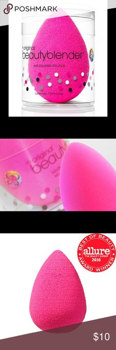Beauty Blender What it is:  An edgeless, high-definition cosmetic sponge applicator.   What it does: The unique shape and exclusive material available only with beautyblender® ensures impeccable, streak-free application with minimum product   This product is an Allure Best of Beauty award winner.                                                                  This posting is the sponge alone.  I will have the blender, soap set restocked soon Beauty Blender Makeup Brushes & Tools
