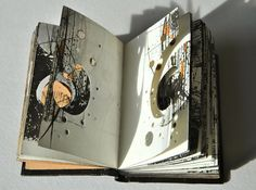 Aether - 2013 altered books v roku 2019 book art, art sketch Arte Sketchbook, Sketchbook Pages, Sketchbook Layout, Textiles Sketchbook, Sketchbook Ideas, Kunstjournal Inspiration, Sketchbook Inspiration, Altered Books, Altered Art