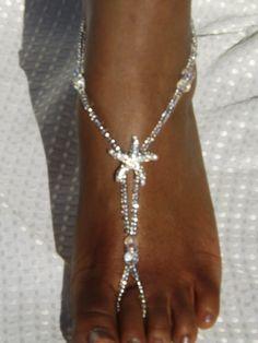 Starfish Foot Jewelry Wedding Starfish by SubtleExpressions, $34.00