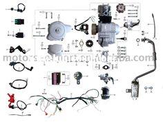 b8a5932c80c0bd4a6d265d965e5aafa7 gas moped moped scooter 38mm foam air filter sponge cleaner bent neck for 70 90 110 125cc,110cc Quad Wiring Diagram