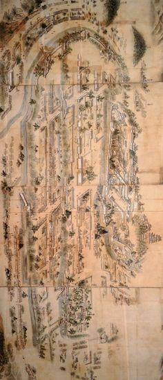 Himeji-jo Byobu  姫路城図屏風 (18世紀前半) -