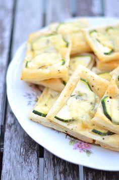Zucchini Squares zum Snacken #food #snack #foodblog #zucchini