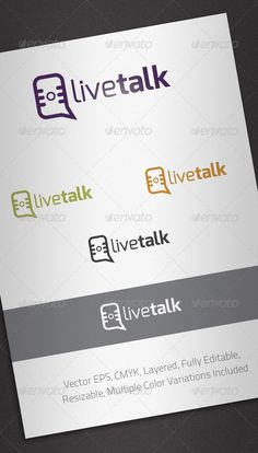 Live Talk Logo Template #GraphicRiver Simple, clean and modern logo template perfect for Radio, News Blog or Social Media. Simple to work with and highly customizable, it ca be easily adjusted to fit your needs. Features Fully layered and fully editable vector EPS template Easy to change colors and adjustable to any size CMYK Multiple color variations included Font details in the Help file. Created: