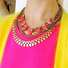 Gold Sutton & Eye Candy Hot Pink www.stelladot.com/angiehurlburt