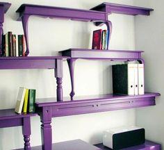 table bookshelf - love the purple by lynda