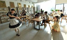 """#Thematic #cafe with #maids in the #Chinese #city of #Hangzhou. #Coffee_lovers and #curious people come from all corners of #Hangzhou, the capital of eastern #Zhejiang Province in #China, to find the #taste of """"#maid_Themed_cafe"""". Read for more: http://tophotshots.org/thematic-cafe-maids-chinese-city-hangzhou/"""