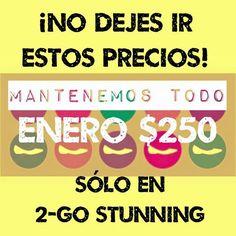No te quedes sin tus 2-GO Stunning! Todo enero mantenemos el precio a $250 Escríbenos YA y haz tu pedido! #compras #marcasmexicanas #somosfabricantes #comparte