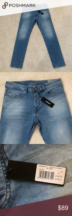 Diesel Mens Jeans Slim Tapered 0850V Size 31/32 Diesel Men Jeans  Available Sizes:   28/32 - 29/32 - 31/32   Style Code: 0850V  Style: Slim Tapered  All brand new with tags and 100% authentic. Picture shown as 31/32. Please select your size Diesel Jeans Slim