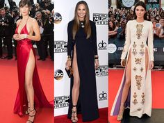 These ladies have no problem showing some leg! Stars from Chrissy Teigen to, of course, Angelina Jolie have made bold — and sexy! — statements by unleashing their legs in these attention-grabbing, gam-displaying gowns.