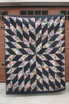I love a simple large scale pattern for novelty fabrics and Starburst from the Missouri Star Quilt Co. is perfect. While the Starburst...