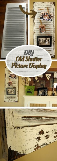 Check out how to make your own DIY shutters for picture display @istandarddesign