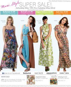 A few Maxi Dress Patterns