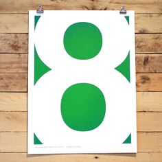 Eight Poster by Dave Radparvar - fall down seven times, get up eight