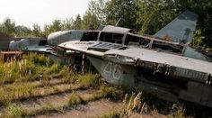Abandoned Russian MiGs in an Obscure Moscow Aircraft Graveyard