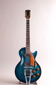 O Craft prototype in Kaede Blue Guitar Art, Cool Guitar, Acoustic Guitar, Blue Guitar, Banjo, Ukulele, Saxophone, Basic Guitar Lessons, Guitar Collection